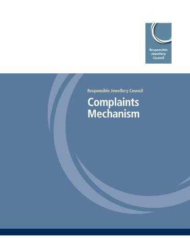 RJC Complaints Mechanism - Responsible Jewellery Council