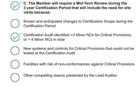Step 5 – Mid-term reviews (if required) - Responsible Jewellery Council